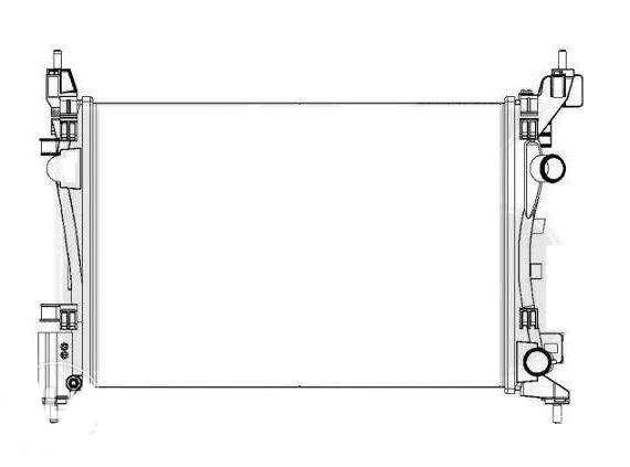 Радиатор охлаждения Opel Corsa (2006-2014)