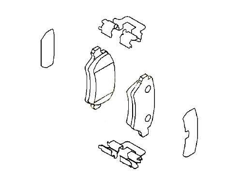Колодки тормозные задние дисковые Opel Astra H (2004-2014)