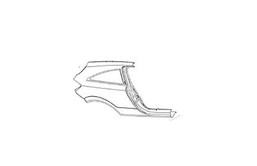 Крыло заднее правое Opel Astra H (2004-2014)