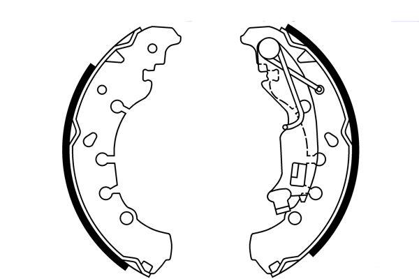Колодки тормозные задние барабанные Opel Corsa (2006-2014)